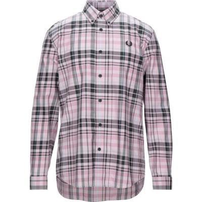 フレッドペリー FRED PERRY メンズ シャツ トップス Checked Shirt Pink