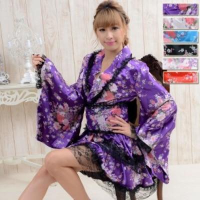 花魁 コスプレ 花魁 浴衣 ドレス 和柄 振袖 花魁 よさこい 衣装 ステージ衣装 アイドル ダンス衣装 仮装  和柄着物ミニドレス
