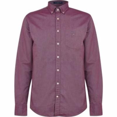 ガント Gant メンズ シャツ トップス Long Sleeve Oxford Shirt Port
