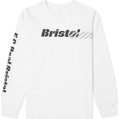 エフシーレアルブリストル F.C. Real Bristol メンズ 長袖Tシャツ トップス Long Sleeve Stencil Tee White