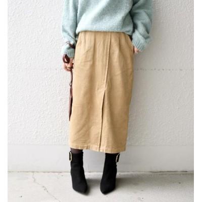 【シップス/SHIPS】 コーデュロイスリットスカート