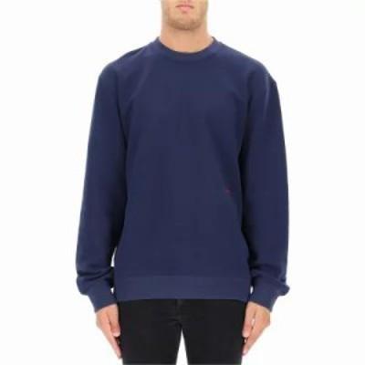 カルバンクライン スウェット・トレーナー Blue cotton sweatshirt Blue