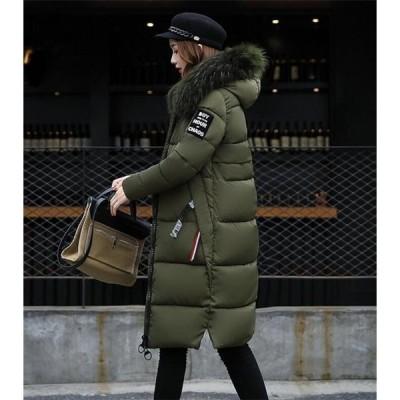 中綿ジャケット レディース ロング LKSDY29591 フード付き 中綿コート ファー 着痩せ ダウンジャケット アウター 冬 防寒 ダウンコート