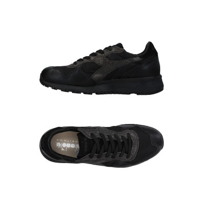 DIADORA HERITAGE スニーカー&テニスシューズ(ローカット) ブラック 6.5 革 / 紡績繊維 スニーカー&テニスシューズ(ローカッ