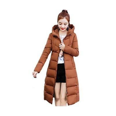 [サ二ー] レディース 中綿コート 女性用ダウンジャケット 秋冬 フード付き 大きいサイズ ロング丈 アウター