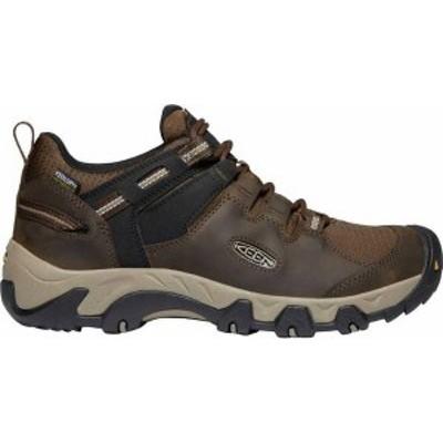 キーン メンズ ブーツ・レインブーツ シューズ KEEN Men's Steens Waterproof Hiking Shoes Canteen/Brindle