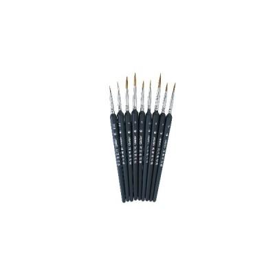 [09#]9 PCSフックラインペンアクリルSoftアクリル塗装用ヘアペイントブラシ