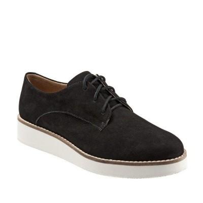 ソフトウォーク レディース スニーカー シューズ Willis Embossed Soft Leather Sneakers Black
