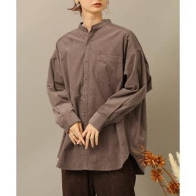 センスオブプレイスバイアーバンリサーチ(レディース)(SENSE OF PLACE)/レディスシャツ(コーデュロイバンドカラーシャツ)