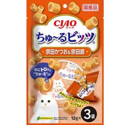 チャオ ちゅ〜るビッツ 宗田かつお&宗田節  12g×3袋
