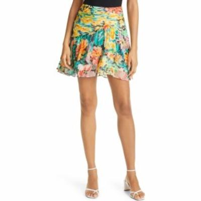 ミリー MILLY レディース スカート Mira Garden Floral Print Silk Skirt Multi