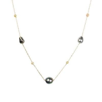 真珠 パール ネックレス K14イエローゴールド 南洋真珠 ケシパール 6月誕生石 プレゼント 京セラ