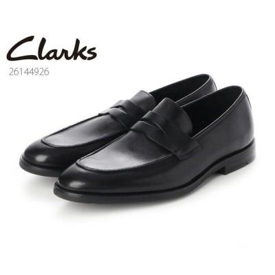 CLARKS クラークス シューズ メンズ Ronnie Step Black Leather 26144926