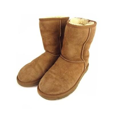 【中古】アグ オーストラリア UGG australia CLASSIC SHORT クラシック ショート ムートンブーツ 靴 5825 ブラウン W6 レディース 【ベクトル 古着】