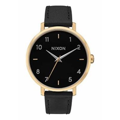 腕時計 ニクソン アメリカ Nixon Women's 'Arrow' Quartz Metal and Leather Watch, Color:Black (Model: