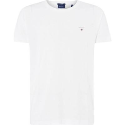 ガント Gant メンズ Tシャツ ロゴTシャツ トップス Crew Logo T Shirt White