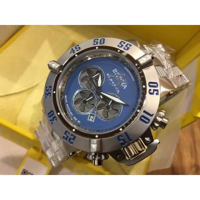 腕時計 インヴィクタ 24447 Invicta Subaqua Noma III Men 50mm Quartz Chron Blue Dial SS Bracelet Watch