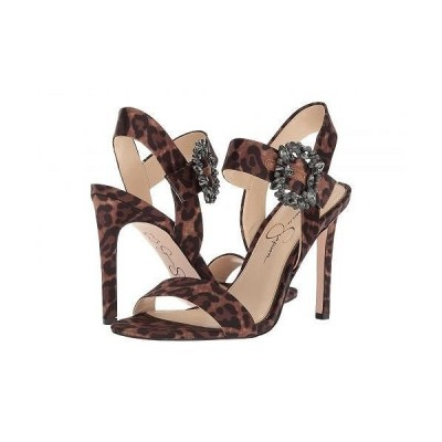 Jessica Simpson ジェシカシンプソン レディース 女性用 シューズ 靴 ヒール Bindy - Natural Alicia Leopard Print Satin