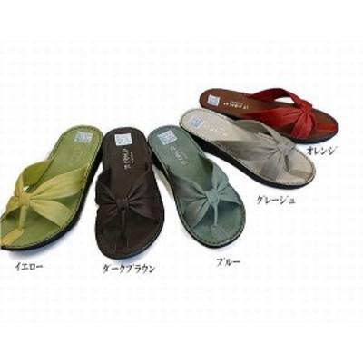 サンダル レディースシューズ レディースファッション 靴 夏商品 本革 コンフォート トングサンダル S M L LL 5色展開 こだわり 日本製