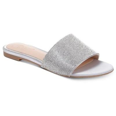 バッジェリー ミシュカ Jewel Badgley Mischka レディース サンダル・ミュール シューズ・靴 Jewel by Badgley Mischka Khaleesi Evening Sandals Silver