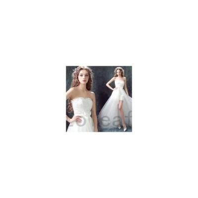 ウェディングドレスミニ二次会花嫁ドレス結婚式ドレスパーティードレスミニ丈Aラインスおしゃれ個性的可愛いナチュラルカジュアルガーリー大き