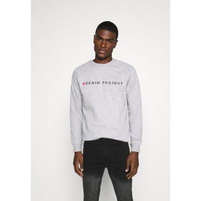 デニム プロジェクト パーカー・スウェットシャツ メンズ アウター LOGO CREW - Sweatshirt - mottled light grey