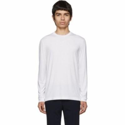 アルマーニ Giorgio Armani メンズ ニット・セーター トップス white viscose sweater White