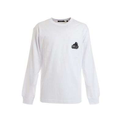 エクストララージ(XLARGE) 長袖ポケットTシャツ EMBROIDERY 101203011018 WHT (メンズ)