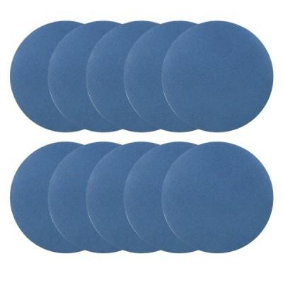 uxcell サンディングディスク 紙やすり サンドペーパー 外径125mm 180グリット フロッキングサンドペーパー ブルー 10枚入