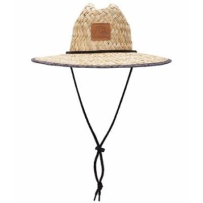 クイックシルバー メンズ 帽子 アクセサリー Outsider Printed Straw Hat Black