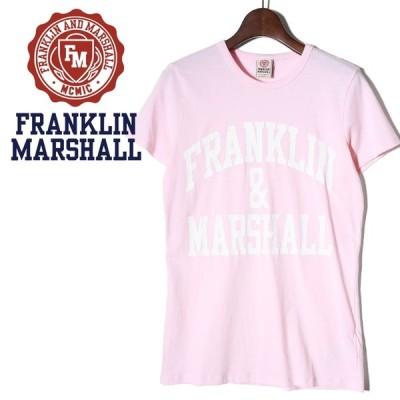 フランクリン&マーシャル FRANKLIN & MARSHALL Tシャツ カットソー レディース ロゴプリント ラウンドネック 半袖 TSHIRT JERSEY ROUND NECK SHORT
