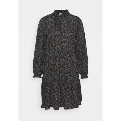 オンリー プティ ワンピース レディース トップス ONLASSIA SHORT DRESS  - Day dress - black
