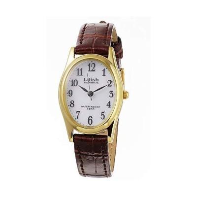 シチズン CITIZEN リリッシュ LILISH ソーラー クオーツ レディース 腕時計 H053-104 ホワイト/ブラウン