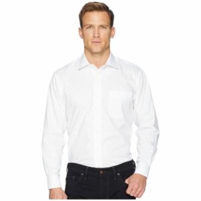 マグナレディ Magna Ready メンズ シャツ トップス Long Sleeve Magnetically-Infused Solid Pinpoint Dress Shirt- Spread Collar White