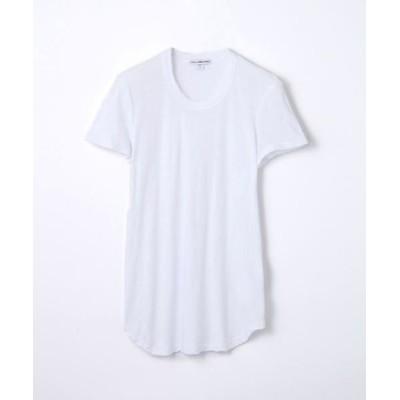 TOMORROWLAND/トゥモローランド スラブジャージー クルーネック Tシャツ WUA3037 ホワイト 2(L)