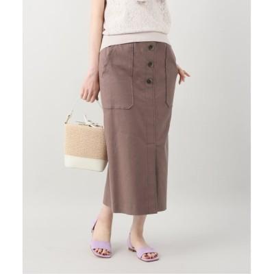 【ラ トータリテ/La Totalite】 麻混ハイストレッチタイトスカート