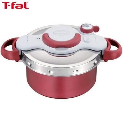 T-fal ティファール 圧力鍋 クリプソ ミニット デュオ レッド IH対応 4.2L 2~4人用 P4604236