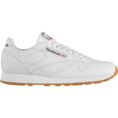 リーボック Reebok Lifestyle メンズ スニーカー シューズ・靴 Classic Leather Trainers White/Gum