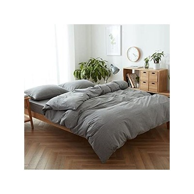 FACE TWO FACE 3-Piece Duvet Cover Queen,100% Washed Cotton Duvet Cover,Ultr