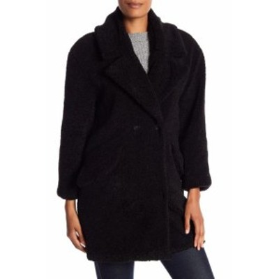 lucky ラッキー ファッション 衣類 Lucky Brand NEW Black Womens Small S Missy Teddy Bear Faux-Fur Jacket