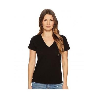 Vince ヴィンス レディース 女性用 ファッション Tシャツ Essential V-Neck Top - Black