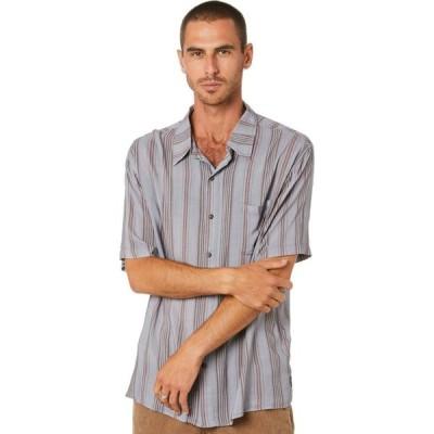 ラスティ Rusty メンズ 半袖シャツ トップス Blind Eye Short Sleeve Rayon Shirt Frost grey