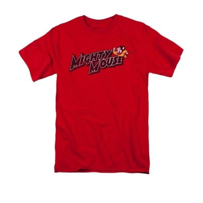 Tシャツ マイティマウス Mighty Mouse Mighty Logo Licensed Adult Shirt S-3XL