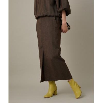 ADAM ET ROPE' / 【セットアップ対応】TRツイル フロントベンツマキシスカート WOMEN スカート > スカート