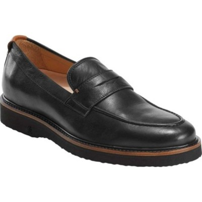 アース メンズ スリッポン・ローファー シューズ East Side Piedmont Penny Loafer Black Waxy Full Grain Leather
