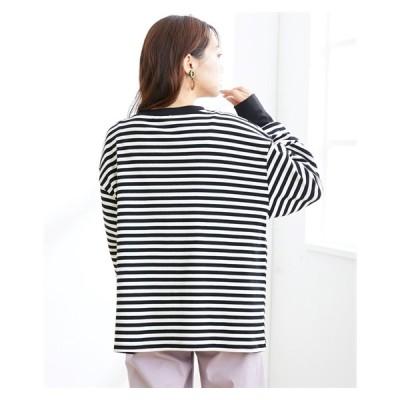 Tシャツ カットソー 大きいサイズ レディース ボーダー トップス LL〜10L ニッセン nissen