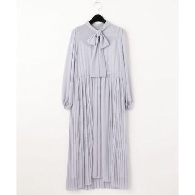 GRACE CONTINENTAL / グレースコンチネンタル ボウタイプリーツドレス