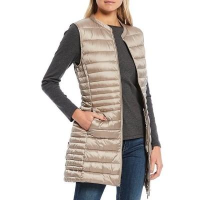 セーブザダック レディース ジャケット&ブルゾン アウター Iris Synthetic Down Zip Front Long Vest Pearl
