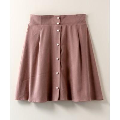 大きいサイズ パール調ボタン使いスカート ,スマイルランド, スカート, plus size skirts