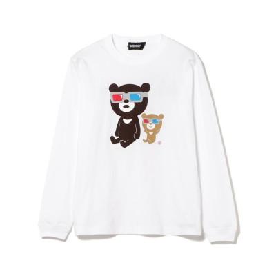 【ビームス メン】 The Wonderful! design works. / 3D BEAR ロングスリーブ Tシャツ メンズ ホワイト XL BEAMS MEN
